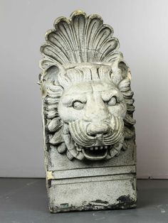 Pair of Terra Cotta Architectural Lion Heads   From a unique collection of antique and modern architectural elements at https://www.1stdibs.com/furniture/building-garden/architectural-elements/