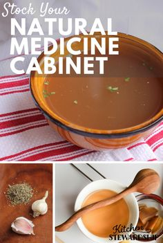 Stock Your Natural Remedies Medicine Cabinet. Lots of natural health tips to avoid antibiotics; best foods and remedies to cure infections naturally in children and adults, including congestion, coughs, pain relief, and more. Be ready for any time sickness hits.