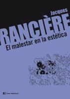 El malestar en la estética / Jacques Rancière
