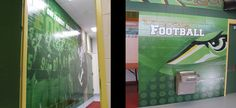 Tiffin University's Football Locker Room Wall Murals. These football locker room wall murals were custom designed, printed and installed onto block walls by GameDay Vision.