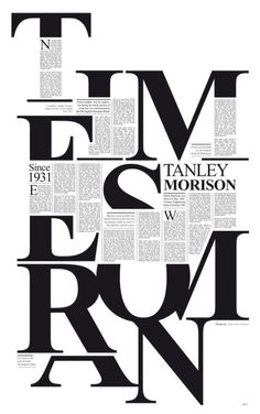 Typographic layout. Makes you work a little, but very eye catching.
