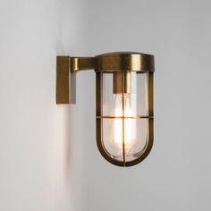 Astro Cabin Outdoor Wall Light – Antique Brass