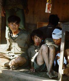Vietnam War POW Camps - Adolescent Vietcong prisoners in Hue