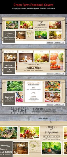 Creative facebook covers for farmers and to promote farmers market: http://graphicriver.net/item/green-farm-facebook-covers/8939564?WT.ac=category_thumb&WT.z_author=designities