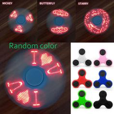 LED Light Fidget Spinner Finger Plastic EDC Hand Spinner For Autism and ADHD Relief Focus Anxiety Stress Toys with Flash 4 Word //Price: $8.99 & FREE Shipping //     #fidgetspinnerglowinthedark