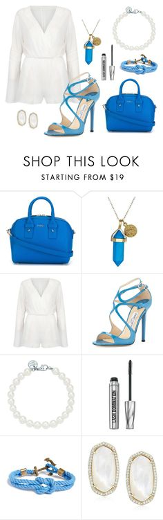 """country club?"" by shailaaa ❤ liked on Polyvore featuring Furla, Dee Berkley, WithChic, Jimmy Choo, Tiffany & Co., Bare Escentuals, Kiel James Patrick, Kendra Scott and country"