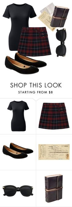 """""""School uniform"""" by hgfjj ❤ liked on Polyvore featuring beauty, Lands' End, French Toast, Accessorize and Art Classics"""