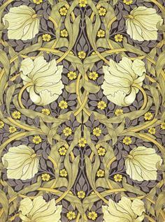 William Morris - so nice.  Charlotte Perkins Gillman would not have fretted over the yellow in this wallpaper.