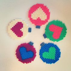 Perler bead Christmas baubles by mahama_beads