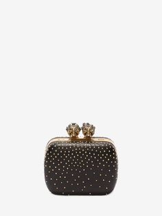 Alexander McQueen Studded Queen and King Skeleton Box Clutch Fashion Bags 0c58d023ed43d