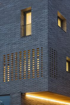 Image 3 of 30 from gallery of Guwol Multi-Family House & Commercial Stores / Seoga Architecture. Photograph by Roh Kyung Brick Cladding, Brick Facade, Brickwork, Architecture Site Plan, Brick Architecture, Architecture Photo, Architecture Diagrams, Architecture Portfolio, Modern Brick House
