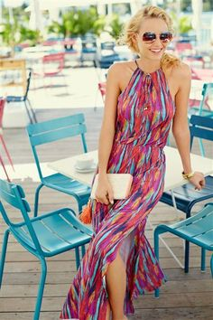 I Dear Stitch Fix Stylist: I love how colorful this dress is! Not sure about how high the neckline is though. Stitch Fix Outfits, Summer Outfits, Cute Outfits, Summer Dresses, Summer Maxi, Look Fashion, Womens Fashion, Mode Inspiration, Swagg