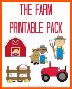 Free Farm Printables! Includes: memory game, handwriting practice,number practice, coloring pages, shape recognition, and MORE