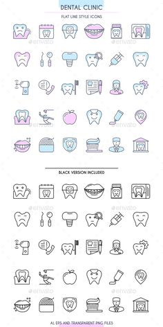 Dental Clinic Outline #Icons Set - Business Icons Download here: https://graphicriver.net/item/dental-clinic-outline-icons-set/19375976?ref=alena994