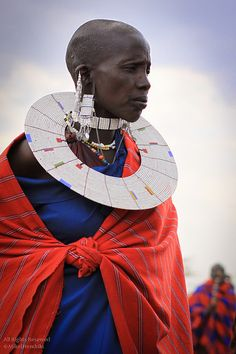 Maasai Woman with Beaded Necklace