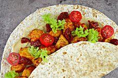 Tortilla z kurczakiem i humusem   – Dietetyczne przepisy – Tacos, Mexican, Ethnic Recipes, Food, Diet, Eten, Meals