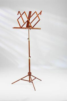 Trafalgar Folding Wooden Music Stand- Amber- Easy Storage Classical Music Stand