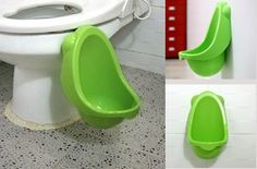 The Kid's Urinal makes potty training a little more bearable and will teach your little boy to stand up and pee when he has to use the restroom