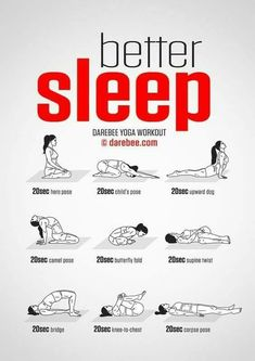 You can not sleep well? Then try this yoga workout! F You can not sleep well? Then try this yoga workout! Fitness Workouts, Yoga Fitness, Fitness Tips, Health Fitness, Free Fitness, Fitness Gear, Fitness And Exercise, Sleep Exercise, Exercise Quotes