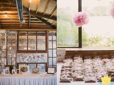 Rustic chic wedding decor.