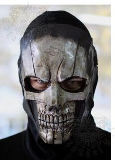 Black Mask: Punisher paint edition Handmade & paint fiberglass mask. With first layer of gelcoat for more strength of the mask.