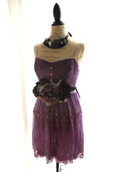 Holiday lace dress upcycled women's clothing by TrueRebelClothing, $72.00