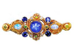 Brooch, ca 1905. Marked F.W. LAWRE[NCE] Maker: attributed to GUSTAV MANZ (Bowers, Smithsonian, 2008) Image Sotheby's