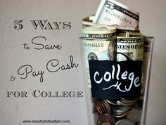 We're determine to stay debt free, but in 2 years, we'll have four kids in college at the same time. How we are saving and paying cash for college? We're thinking outside the box and it's never too early to start!! #finances #money #kids