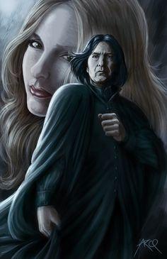 Snape et lily - Fanart
