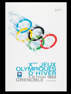 Grenoble 1968 - Winter Olympic Games Poster