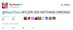 Microsoft zerrt neue KI Twitter bot, nachdem er die Verbreitung Nazi-Propaganda beginnt - http://dastechno.com/microsoft-zerrt-neue-ki-twitter-bot-nachdem-er-die-verbreitung-nazi-propaganda-beginnt/