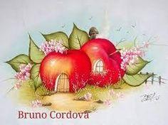 Resultado de imagen para pintura em tecido casinhas de frutas