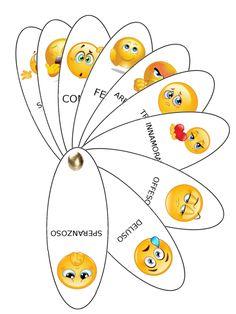 Didattica: Il ventaglio delle emozioni | MAMMA E CASALINGA Emotions Game, Feelings And Emotions, Montessori Activities, Preschool Activities, Toddler Preschool, Preschool Crafts, Emotional Inteligence, Classroom Labels, Board For Kids