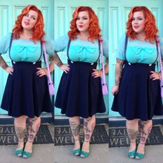 "Her Plus Size Skirt is called ""Ain't She Suite"""