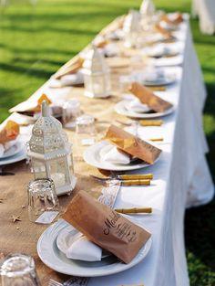 Tassen  bruiloft gunst Kraft zakjes  dankbericht gunst  door mavora