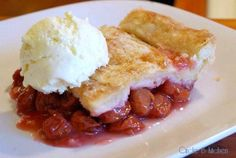 Sour Cherry Cobbler with (lower-fat) Homemade Vanilla Bean Ice Cream — Circle B Kitchen