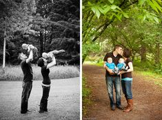 6 month twin family photography