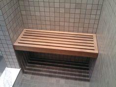 Floating Teak Shower Bench