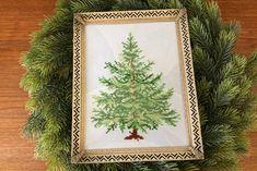 Broderet juletræ Wallet Sewing Pattern, Sewing Patterns, Sew Wallet, Christmas Diy, Aesthetics, Decor, Plant, Decoration, Patron De Couture