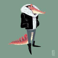 Aligator gang v.s Bear gang Illustrations on Behance