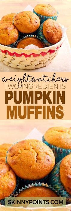 Two Ingredients Pumpkin Muffins With Only 5 Weight Watchers Smart Points