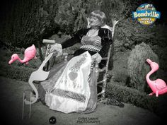 The Queen of Hearts chilling out at Bondville model village