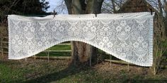 Vintage Cafe Curtain Ecru Shabby Chic  by NormasTreasures on Etsy, $8.86