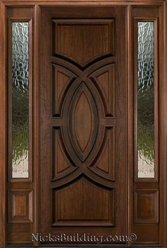 Exterior Doors with Sidelights - Solid Mahogany Entry Doors - September 26 2019 at Single Door Design, Home Door Design, Door Design Interior, Main Door Design, Wooden Door Design, Front Door Design, Interior Exterior, Exterior Remodel, Exterior Doors With Sidelights