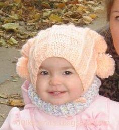 Долька вяжет: Шапочка для девочки на прохладную осень