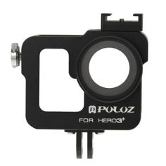 PULUZ Housing Shell CNC Aluminum Alloy Protective Cage with 37mm UV Lens Filter & Lens Cap for GoPro HERO3+ /3(Black)