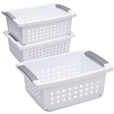 The Container Store > Stacking Baskets with Handles, small $3.99
