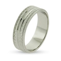 Eternity by Eve Stippled Sterling Silver Wedding Band