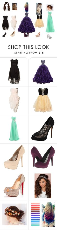 """""""Prom styles"""" by fashion41323 ❤ liked on Polyvore featuring Laona, eFashion, Little Mistress, River Island, Vince Camuto, Qupid, Michael Antonio, Christian Louboutin and Berry"""