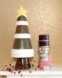 terra cotta pot crafts | Terra cotta Christmas tree | CRAFTS: Clay Pots/Terra Cotta DIY ...